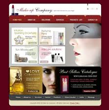 makeup artist websites templates cosmetics store website template 10654