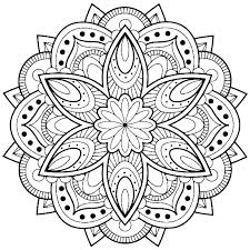 Easy Flower Mandala Coloring Pages Flower Coloring Page Easy
