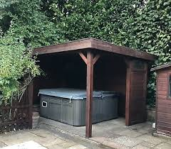 wooden hot tub shelter garden gazebo by hillhout