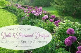 flower garden bulb and perennial designs for amazing spring gardens bulb flower types u37