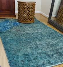 image of traditional overdyed vintage rugs