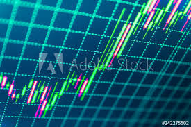 Abstract Financial Background Trade Colorful Stock Trade