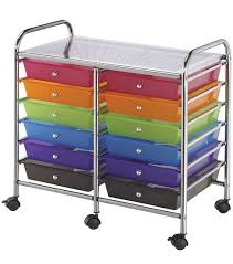 Double Storage Cart w/12 Drawers-Multicolor Double-Wide with 12 Drawers- Multi-Color | JOANN