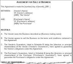 Sale Of Business Agreement Mesmerizing Free Printable Sale Contract Form GENERIC