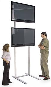 Tv stand and mount Glass Tall Tv Stand Tall Tv Stand Displays2go 10 Tall Tv Stand Holds 2 Monitors