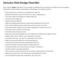 Web Design Checklist Inclusive Web Design Checklist Ix Ui Ux