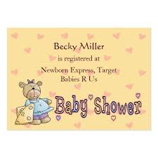 Registry Card Template Business Cards 174 Baby Shower