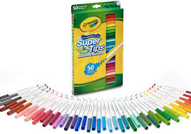 Crayola Supertips 50 Color Chart Crayola Super Tips Washable Markers Age 3 50 Count