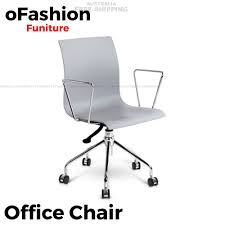 modern office chair. Modern Office Chair With Armrests - Grey