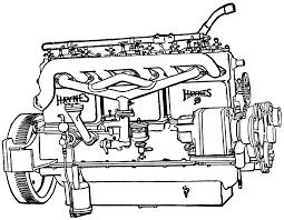 Engine clipart automobile engine pencil and in color engine