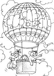 Coloriage Montgolfi Re Et Enfants Imprimer Sur Coloriages Info