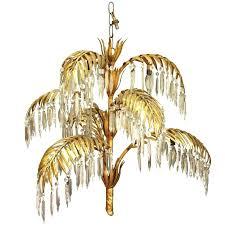 gold leaf chandelier gold leaf metal and crystal palm frond chandelier antique gold leaf chandelier