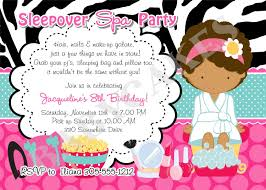 How To Make A Sleepover Invitation Spa Slumber Party Invitations Free Printable Birthday Party Ideas