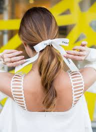 Chanel Hair Style three tips for wearing the hair ribbon ponytail trend beauty 1204 by stevesalt.us