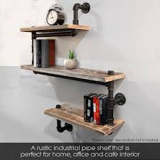 industrial pipe shelving bookshelf rustic modern wood ladder pipe wall shelf 3 tiers wrought iron pipe