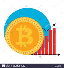 Btc Growth Chart Bitcoin Growth Chart Symbol Badge Label Emblem Btc Growing
