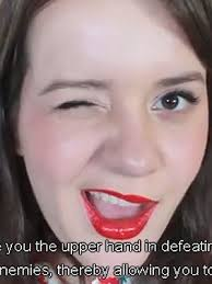 want makeup that will give you the upper hand in defeating your male enemies well check out this witty tutorial that not only does a darn fine job of