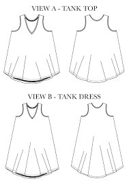 Tank Top Pattern Fascinating Pony Tank And Dress The Fold Line