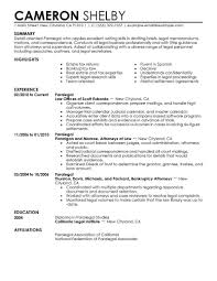 Personal Injuryaralegal Resume Job Description Real Estate