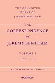 jeremy bentham works the correspondence of jeremy bentham volume 2 1777 80