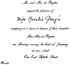 Formal Invite 11 Invitations Acceptances And Regrets Post Emily 1922 Etiquette