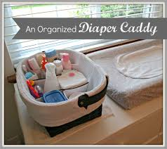 A diaper caddy: You know, the storage container you set on top (or within  easy reach of) your changing table, where you can store changing essentials.