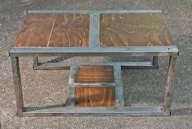 table recycled materials. Rustic Contemporary Coffee Table Made From Recycled Materials