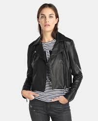 armani exchange women s black leather jacket