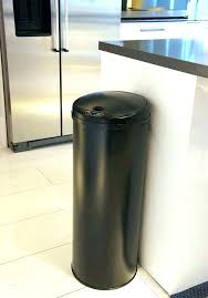 amazing kitchen trash can images black cans big biggest metal