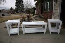 coffee table oval set matching console and end tables square w tv stand white fabulous of sets with oak perfec