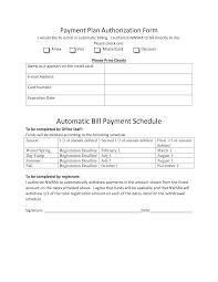 Payment Plan Template Bill Payment Schedule Templates At Allbusinesstemplates Com