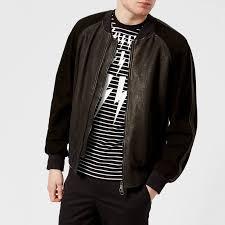 neil barrett men s fairisle thunderbolt varsity jacket black free uk delivery over 50
