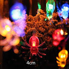 Halloween party lighting House Image Unavailable Amazoncom Amazoncom Leoy88 Led Spider String Lights For Halloween Party
