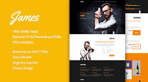 Template 30 Best Vcard Wordpress Themes 2017 For Your Online Resume