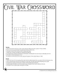 Civil War for Kids Civil War Crossword Puzzle – Classroom Jr ...