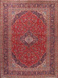 9 6 x 12 9 hand knotted semi antique red navy persian kashan oriental area rug 12980472 goodluck rugs