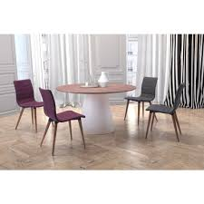 Zuo Query White And Walnut Dining Table 100271 The Home Depot