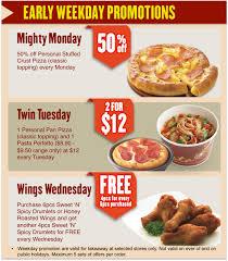 pizza hut menu 2013. Simple Pizza 2013 11 12  Pizza Hut Weekday Promotion Inside Menu N