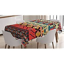 Amazon Native American Tablecloth by Ambesonne South