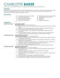 Resume Objective Sales Sample Resume Letters Job Application