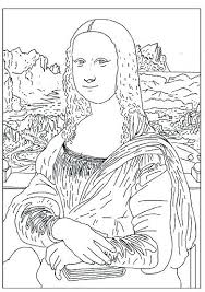 Mona Lisa Coloring Page Coloring Page Colouring Enchanted Learning