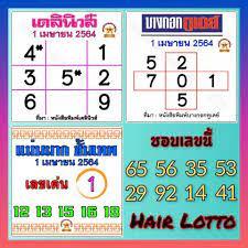 หวยไทยรัฐ เลขเด็ดไทยรัฐ เดลินิวส์ บางกอกทูเดย์ 1/4/64 - หวยเด็ดงวดนี้ ในปี  2021