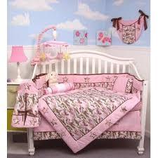 Soho Designs Soho Designs Pink Camo Baby Crib Nursery Bedding Set 14 pcs  included Diaper Bag