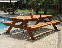 hardwood large picnic bench