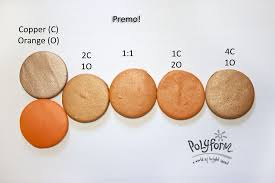 Premo Color Mixing Chart Orange You Glad Its New Color Tuesday Polymer Clay
