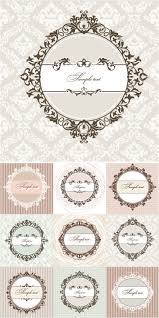 fl round vintage frames vector