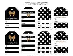 Black White And Gold Christmas Gift Tags Lovee Gift Tags