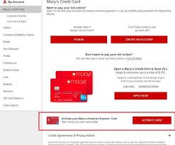 macy s credit card activation cards