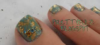 Prettyfulz: Foil Nail Art | African Jade Pedicure