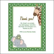 Baby Gift Thank You Note Thank You Note For Baby Gift Rabirajkhadka Me